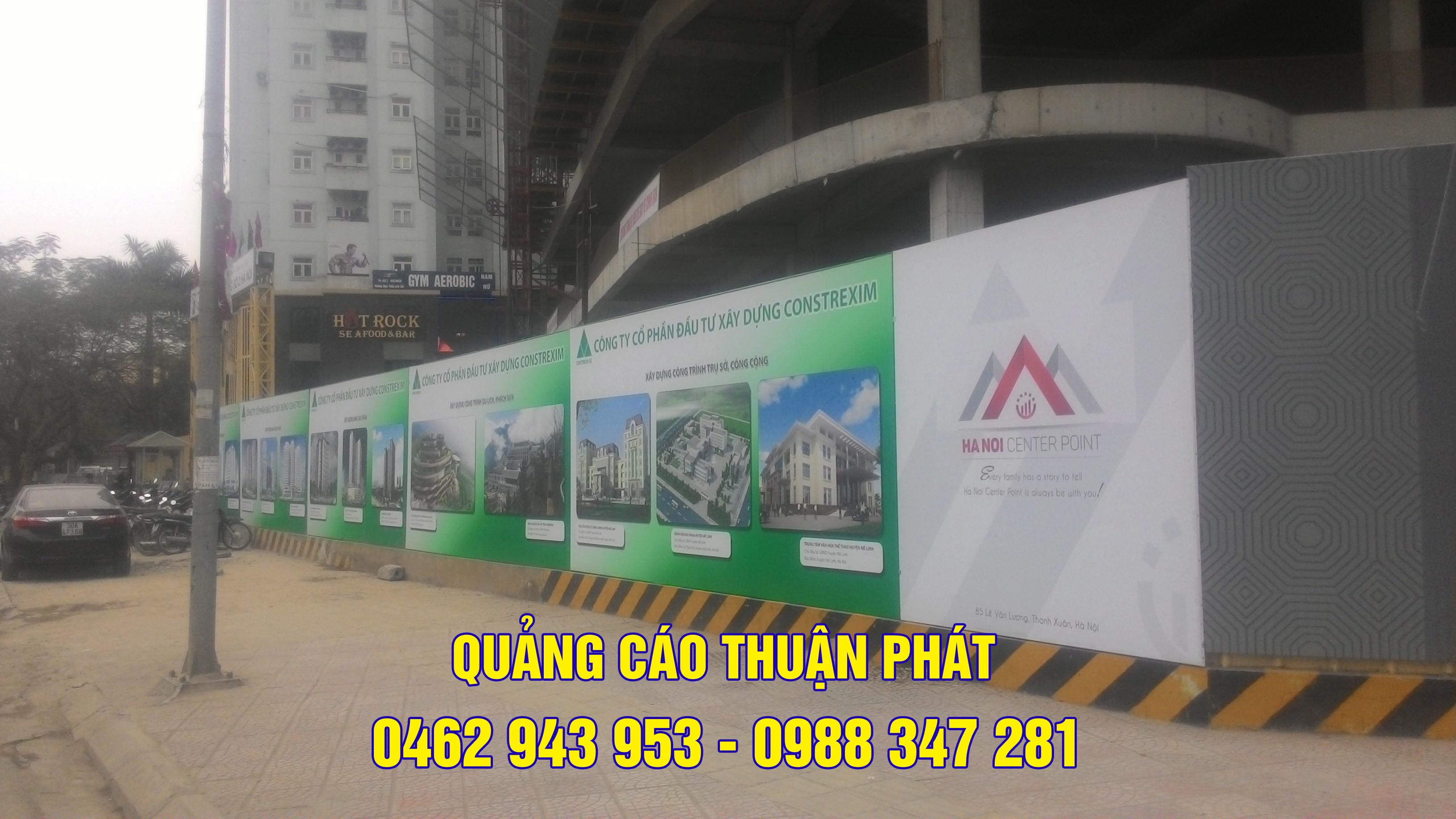 Thi công bảng hiệu quảng cáo ngoài trời kiêm hàng rào công trình xây dựng